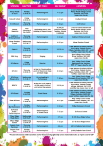 Latest RPA Timetable!